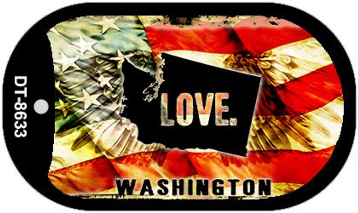 "Washington Love Dog Tag Kit 2"" Metal Novelty"