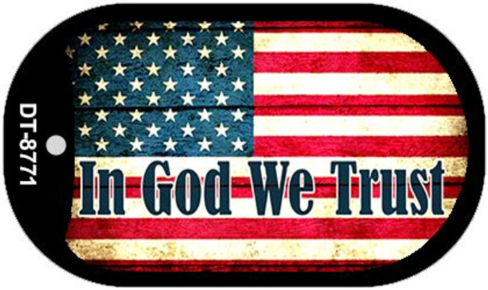 "In God We Trust Dog Tag Kit 2"" Metal Novelty"