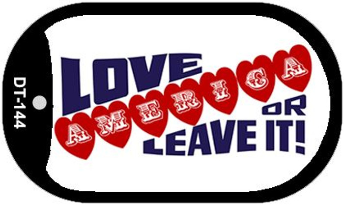 "Love America Or Dog Tag Kit 2"" Metal Novelty"