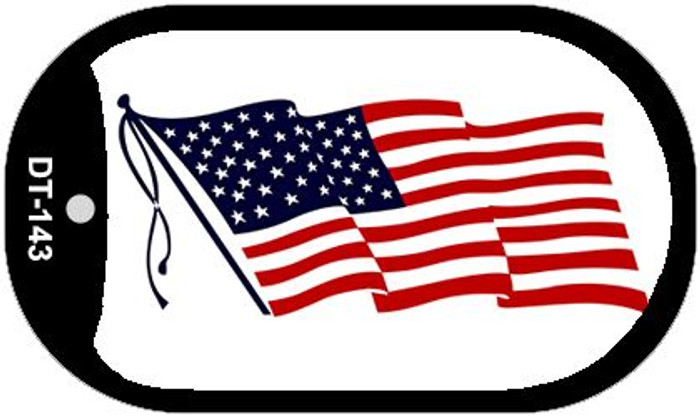 "American Flag Waving Dog Tag Kit 2"" Metal Novelty"