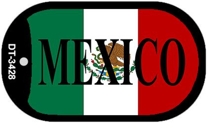 "Mexico Flag Dog Tag Kit 2"" Metal Novelty Necklace"