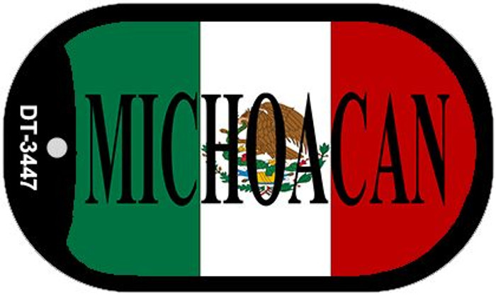 "Michoacan Mexico Flag Dog Tag Kit 2"" Metal Novelty Necklace"