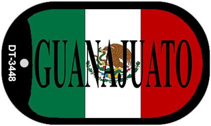 "Guanajuato Mexico Flag Dog Tag Kit 2"" Metal Novelty Necklace"