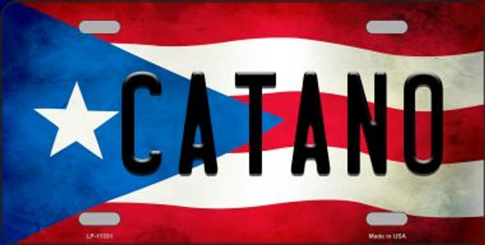 Catano Puerto Rico Flag Background License Plate Metal Novelty