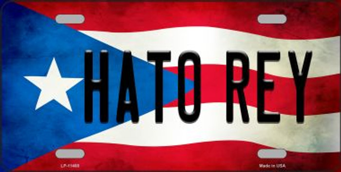 Hato Rey Puerto Rico Flag Background License Plate Metal Novelty