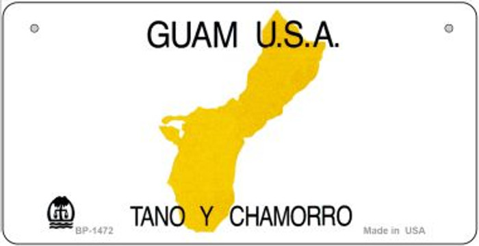 Guam State Background  Novelty Bicycle License Plate