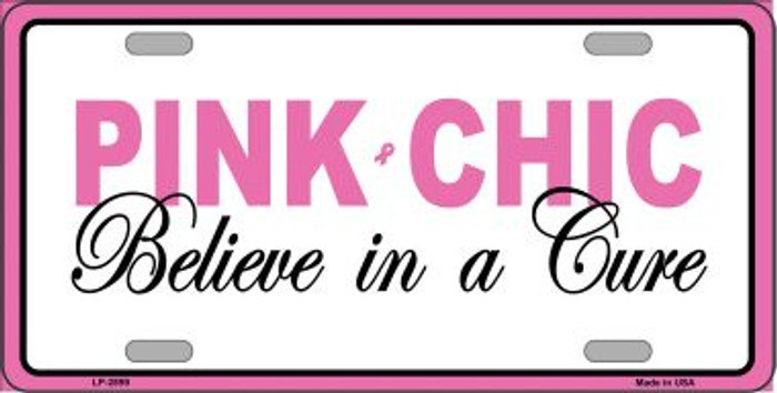 Pink Chic Metal Vanity License Plate Sign