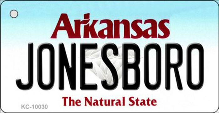 Jonesboro Arkansas Background Key Chain Metal Novelty