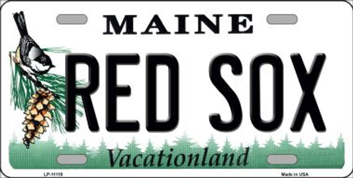 Red Sox Maine Background Novelty License Plate