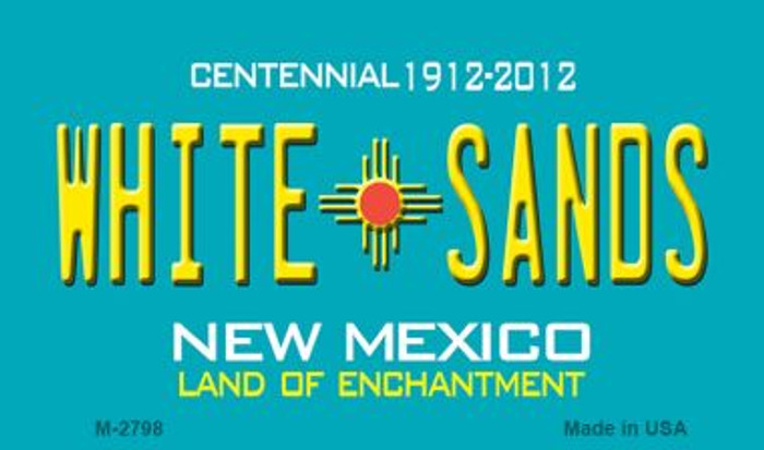 White Sands New Mexico Novelty Magnet