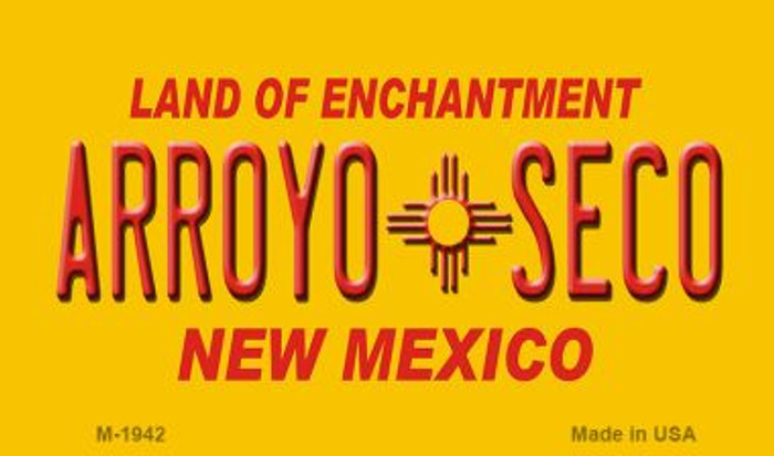 Arroyo Seco Yellow New Mexico Novelty Magnet