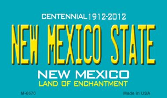 New Mexico State Novelty Magnet