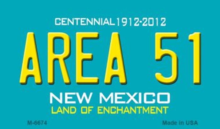 Area 51 New Mexico Novelty Magnet