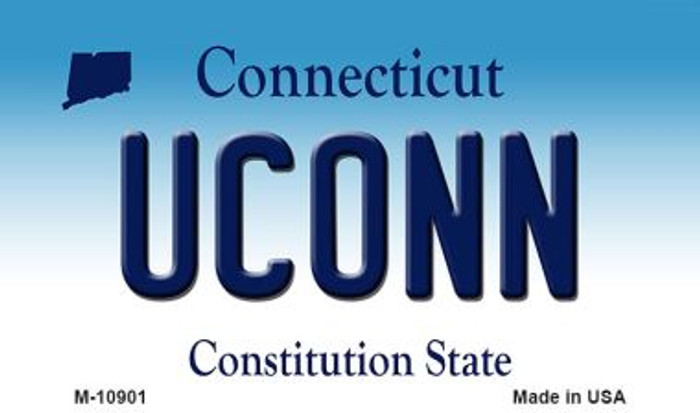 Uconn Connecticut State License Plate Magnet M-10901