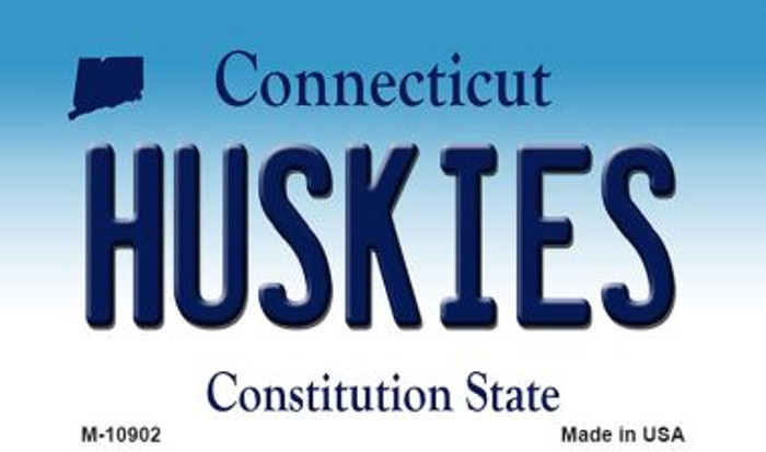 Huskies Connecticut State License Plate Magnet M-10902