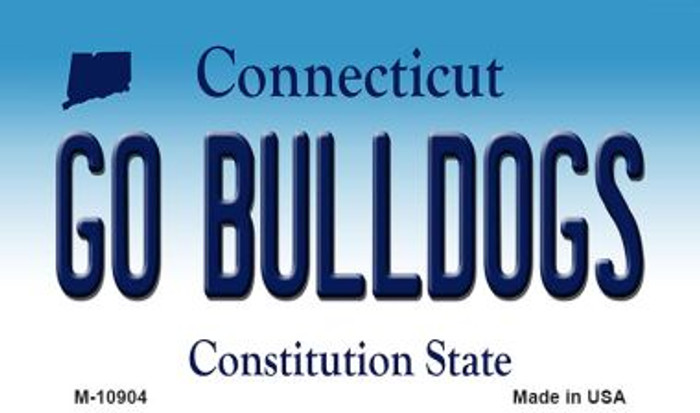 Go Bulldogs Connecticut State License Plate Magnet M-10904
