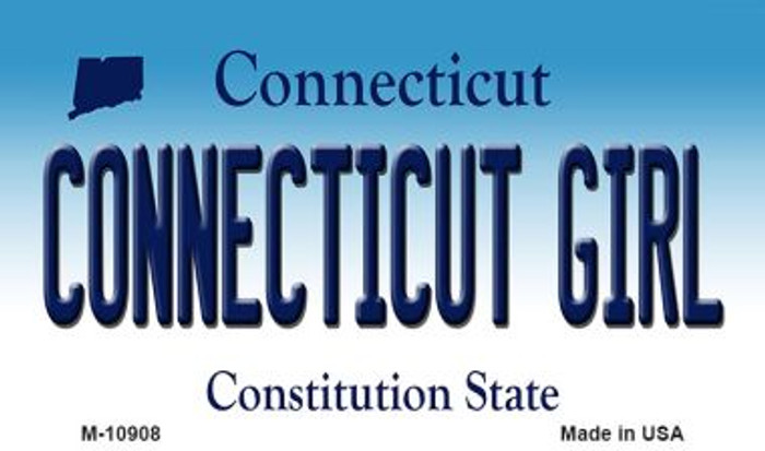 Connecticut Girl State License Plate Magnet M-10908