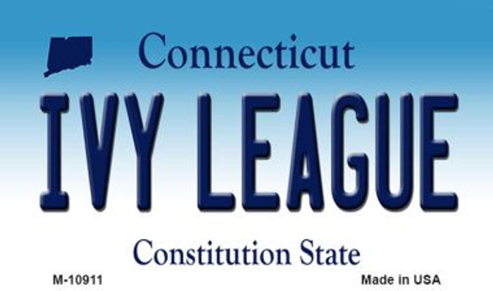 Ivy League Connecticut State License Plate Magnet M-10911