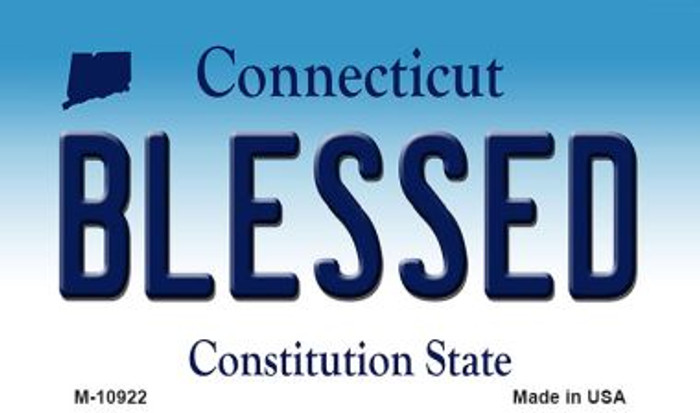 Blessed Connecticut State License Plate Magnet M-10922