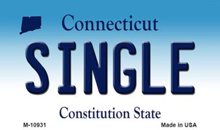 Single Connecticut State License Plate Magnet M-10931