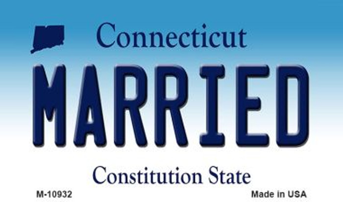 Married Connecticut State License Plate Magnet M-10932