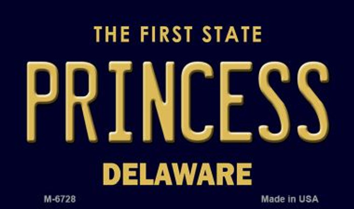 Princess Delaware State License Plate Magnet M-6728