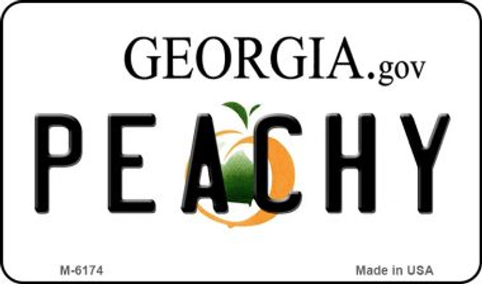 Peachy Georgia State License Plate Novelty Magnet M-6174