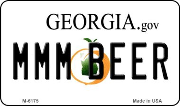 MMM Beer Georgia State License Plate Novelty Magnet M-6175