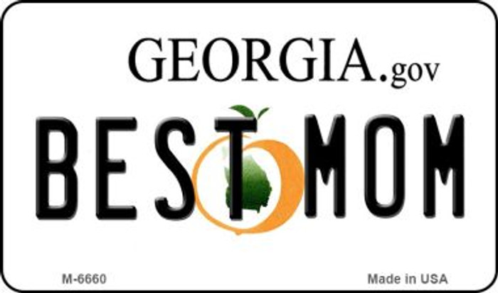 Best Mom Georgia State License Plate Novelty Magnet M-6660
