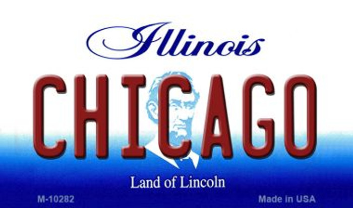 Chicago Illinois State License Plate Magnet M-10282