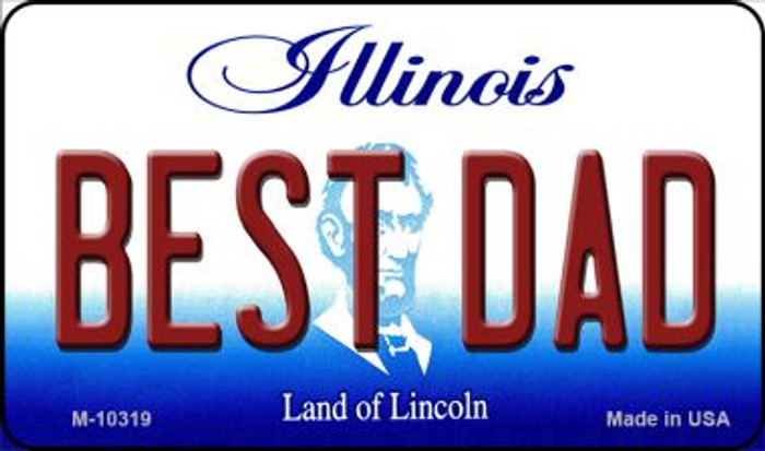 Best Dad Illinois State License Plate Magnet M-10319