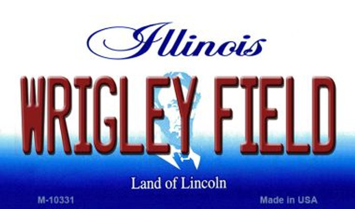 Wrigley Field Illinois State License Plate Magnet M-10331