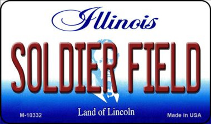 Soldier Field Illinois State License Plate Magnet M-10332