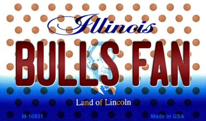 Bulls Fan Illinois State License Plate Magnet M-10851