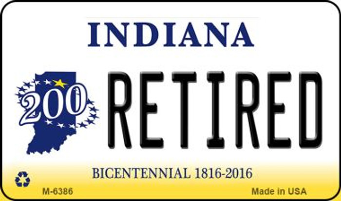 Retired Indiana State License Plate Novelty Magnet M-6386