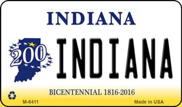 Indiana State License Plate Novelty Magnet M-6411