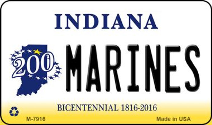 Marines Indiana State License Plate Novelty Magnet M-7916