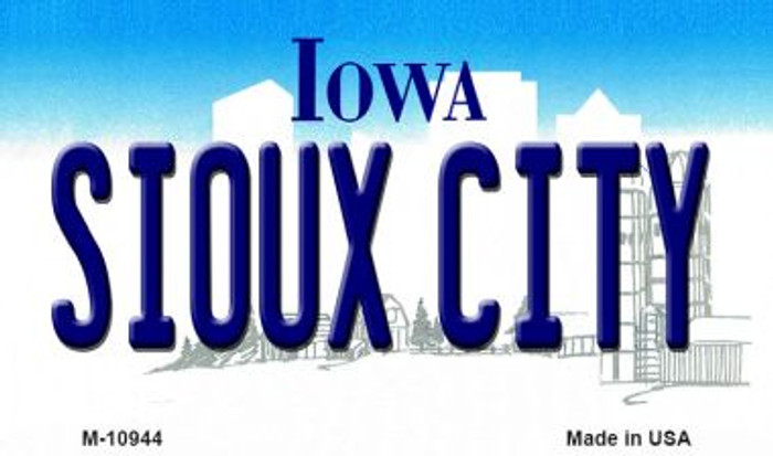 Sioux City Iowa State License Plate Novelty Magnet M-10944