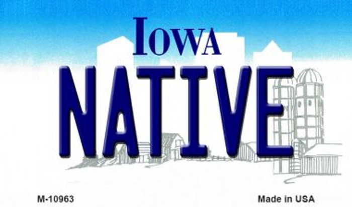 Native Iowa State License Plate Novelty Magnet M-10963