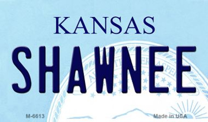 Shawnee Kansas State License Plate Novelty Magnet M-6613