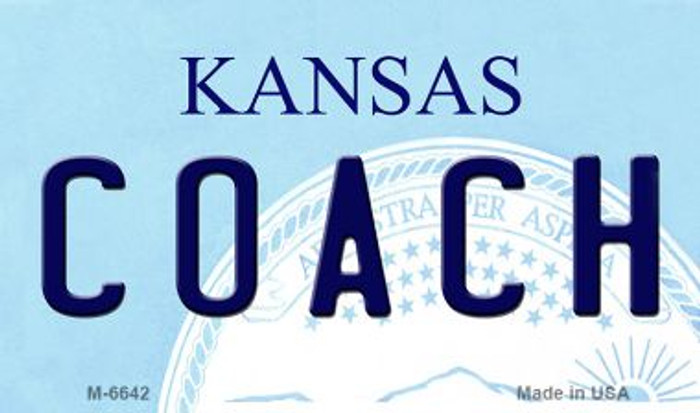Coach Kansas State License Plate Novelty Magnet M-6642