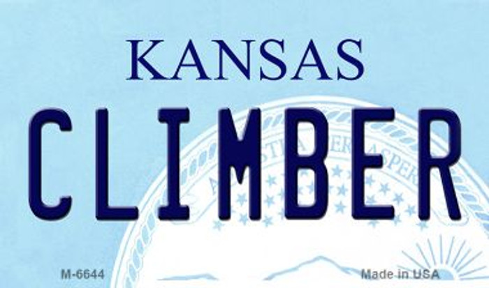 Climber Kansas State License Plate Novelty Magnet M-6644