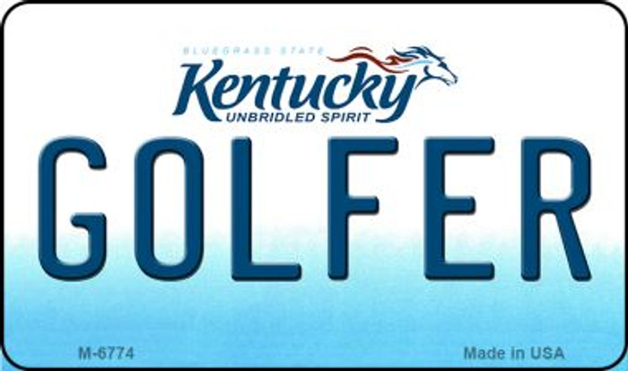 Golfer Kentucky State License Plate Novelty Magnet M-6774