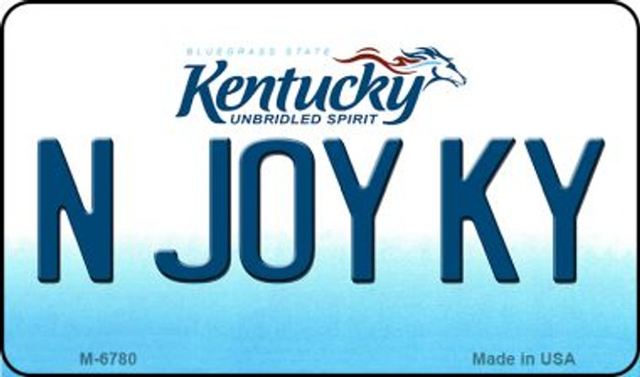 N Joy KY Kentucky State License Plate Novelty Magnet M-6780