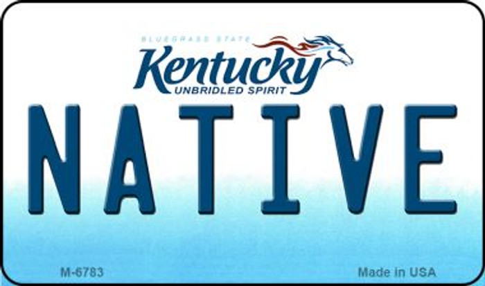 Native Kentucky State License Plate Novelty Magnet M-6783