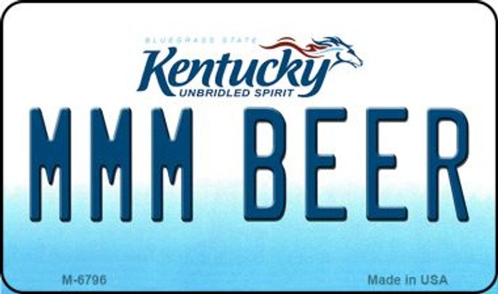 MMM Beer Kentucky State License Plate Novelty Magnet M-6796