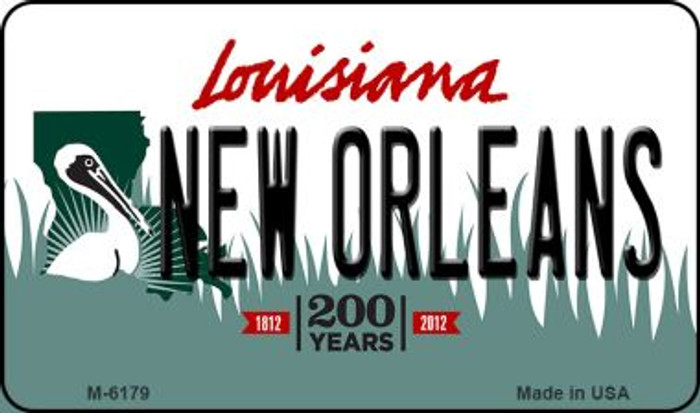 New Orleans Louisiana State License Plate Novelty Magnet M-6179