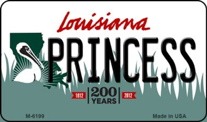 Princess Louisiana State License Plate Novelty Magnet M-6199