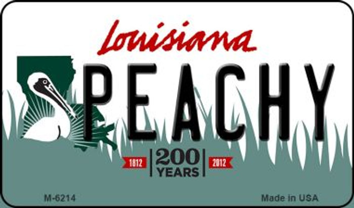 Peachy Louisiana State License Plate Novelty Magnet M-6214