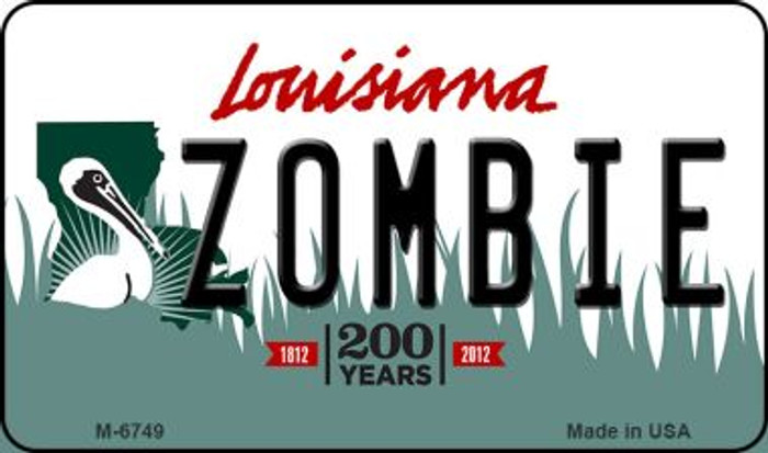 Zombie Louisiana State License Plate Novelty Magnet M-6749